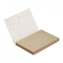 Zestaw kartek w miękkiej okładce papierowej z nasionami - MO6234