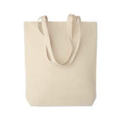 Płócienna torba na zakupy z długimi uchwytami i płaskim dnem 270 gr / m² - MO6159