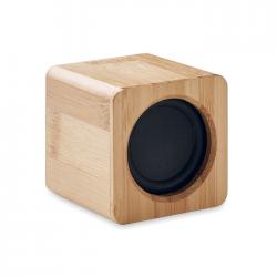 Głośnik bezprzewodowy 5.0 w bambusowej obudowie ze wskaźnikiem LED - MO9894