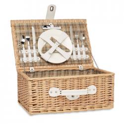 Wiklinowy 2-osobowy koszyk piknikowy - MO6193