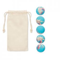 5 musujących kul do kąpieli w bawełnianym etui - MO6211