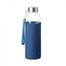 Szklana butelka z etui z neoprenu imitującego dżins, 500 ml - MO6192