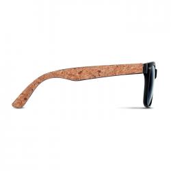 Klasyczne okulary przeciwsłoneczne, zauszniki pokryte korkiem  - MO6231