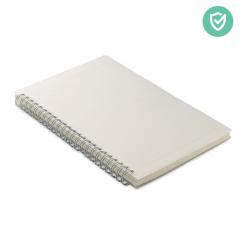 Notatnik A5 z powłoką antybakteryjną z okładką z PP i 80 kartkami z recyklingu - MO6142