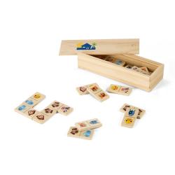 Drewniana gra domino dla dzieci z figurami zwierząt - ST 98074