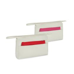 Kosmetyczka z mikrofibry z przednią kieszenią i małą wyjmowaną torbą wielofunkcyjną - ST 92727
