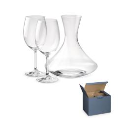 Zestaw do wina składający się z karafki o pojemności 1600 ml oraz dwóch kieliszków - ST 94023