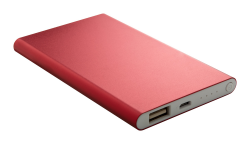 Aluminiowy power bank USB o...