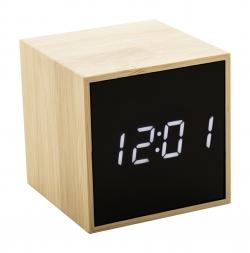 Bambusowy zegar z alarmem -...