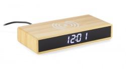 Bambusowy zegar z ładowarką...