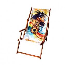 Leżak plażowy komfort - z podłokietnikami
