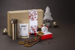 Zestaw świąteczny kawowy z power bankiem - AS 08502