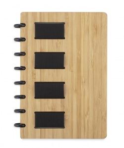 Innowacyjny notes bambusowy A5 w linie - AS 17849