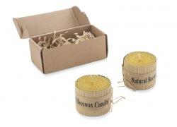 Zestaw 2 świec z naturalnego wosku pszczelego - ST 08126