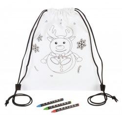 Plecak do kolorowania ze świątecznym akcentem - 56-0902367