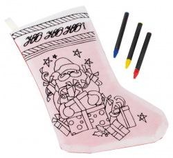 Świąteczna skarpeta do kolorowania - 56-0902361