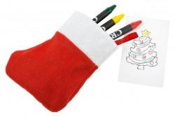 Zestaw do kolorowania w świątecznej skarpecie - 56-0902364