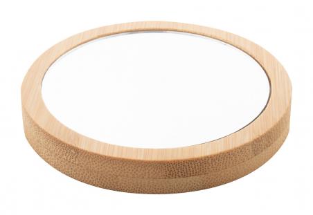Okrągłe, bambusowe lusterko kieszonkowe - AP874016