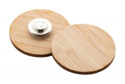 Przypinka ze sklejki bambusowej z magnetycznym pinsem - AP716415