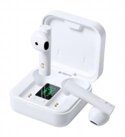 Bezprzewodowe słuchawki bluetooth w plastikowym etui z ładowarką słoneczną - AP810466