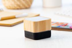 Głośnik Bluetooth w bambusowej obudowie z gumowanym spodem i wbudowanym akumulatorem - AP810464
