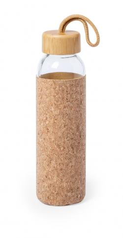 Szklana butelka sportowa z osłoną z naturalnego korka - AP721984