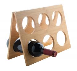 Składany, bambusowy stojak na wino na 6 butelek - AP800449