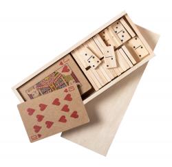 Zestaw gier w drewnianym pudełku - AP722034