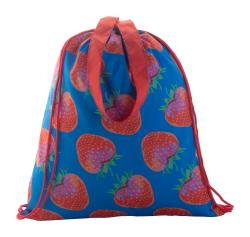 Personalizowany worek z kolorowymi sznurkami i długimi uchwytami - AP716411