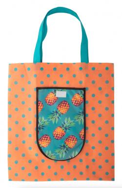 Personalizowana, składana torba na zakupy z włókniny zapinana na rzep, 80 g/m² - AP716405