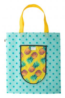 Personalizowana, składana torba na zakupy z włókniny RPET - AP716427