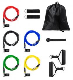 11-częściowy zestaw taśm do ćwiczeń w poliestrowej torbie - AP722042
