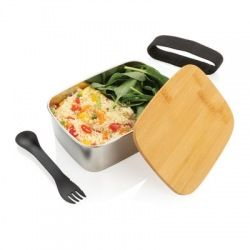 Pudełko śniadaniowe z bambusowym wieczkiem - P269.622