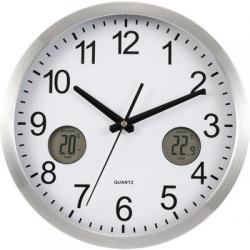 Zegar na ścianę z termometrem i czujnikiem wilgotności- V3429-32