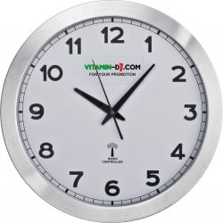 Duży zegar ścienny z metalu - 4327506