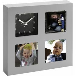 Ramka do zdjęć (7,5 x 7,5 cm) z zegarem analogowym  - V5183-32