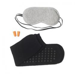 Maska na oczy z polibawelny z zatyczkami do uszu i skarpetkami - mo8543