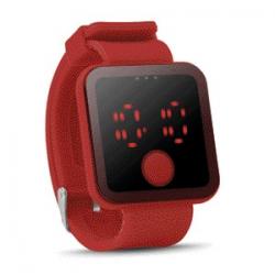 Zegarek z czerwoną diodą LED - mo8653