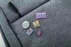 Plakietki (buttony) reklamowe z nadrukiem